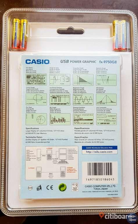 Casio grafritare / kalkylator