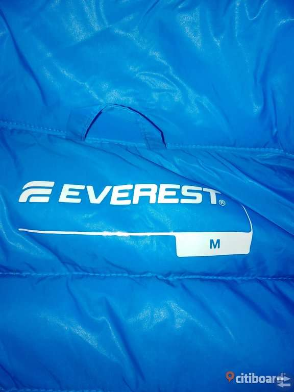 Blå everest dunjacka medium