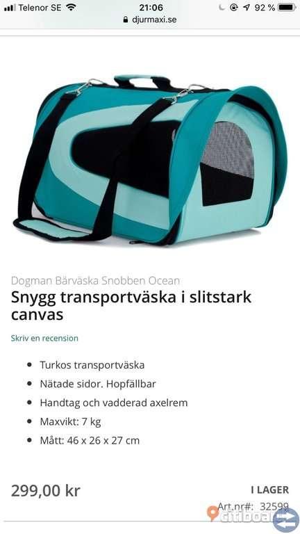 Transportväska och halsband