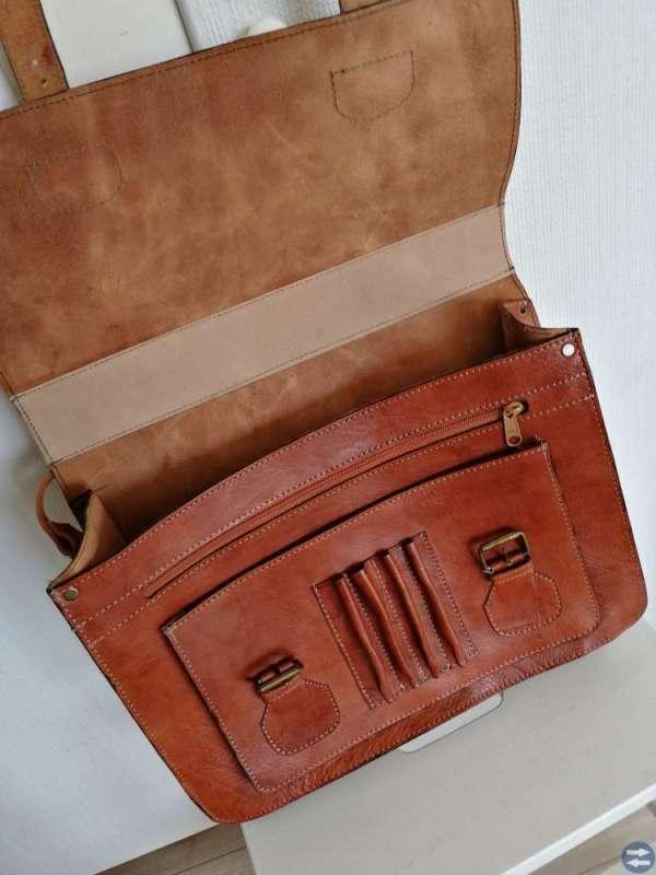 Läderväska i Cambridgemodell