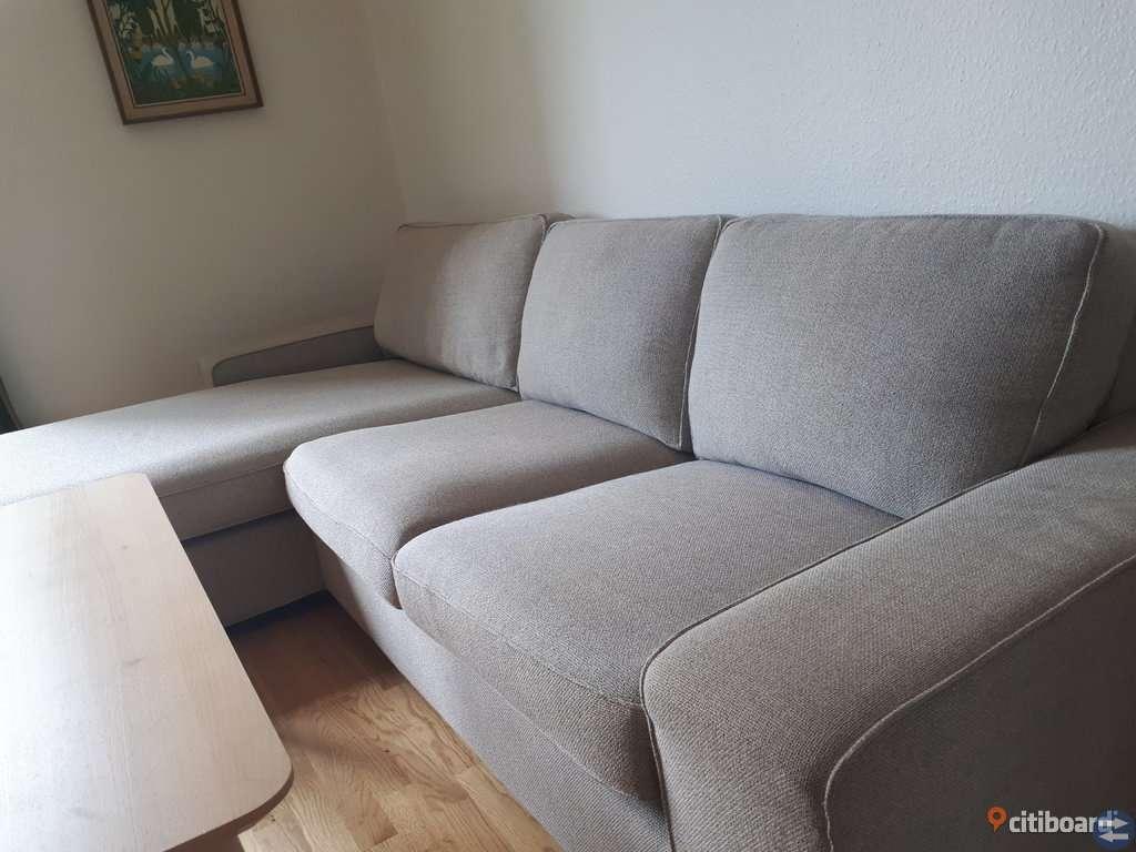 Soffa med shäslong Ikea Kivik