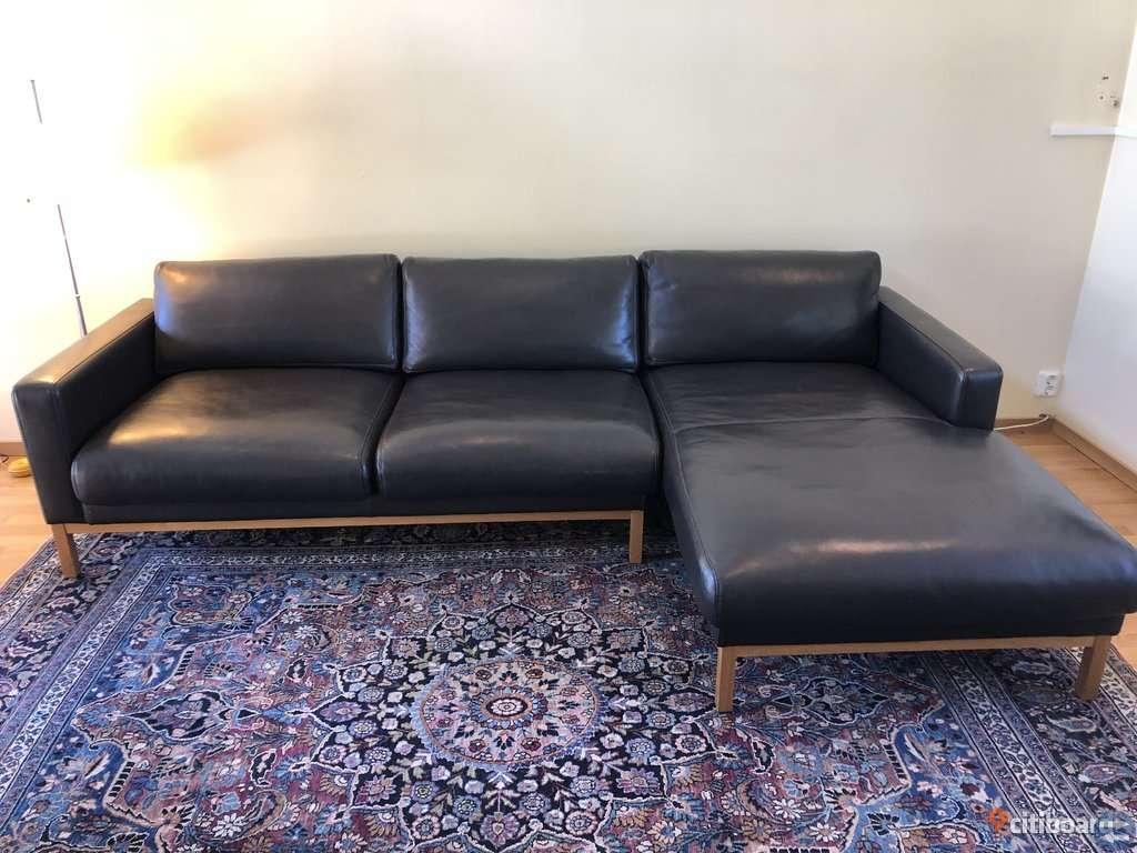 Stilren Bolia soffa i läder