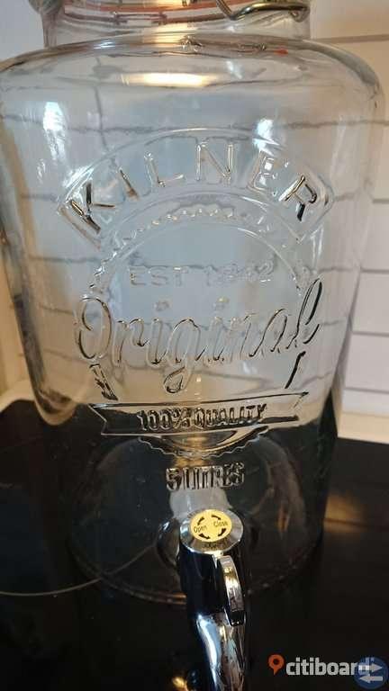 Kilner glasburk med tappkran, 5L