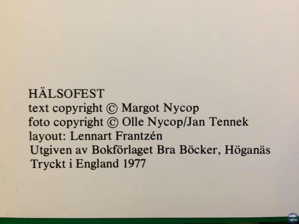 Hälsofest av Margot Nycop