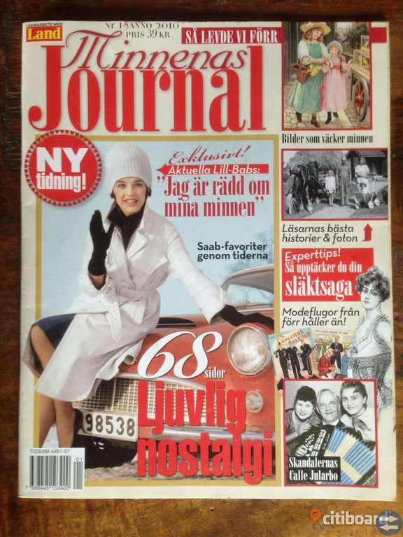 Minnenas Journal.  nr1 2010.