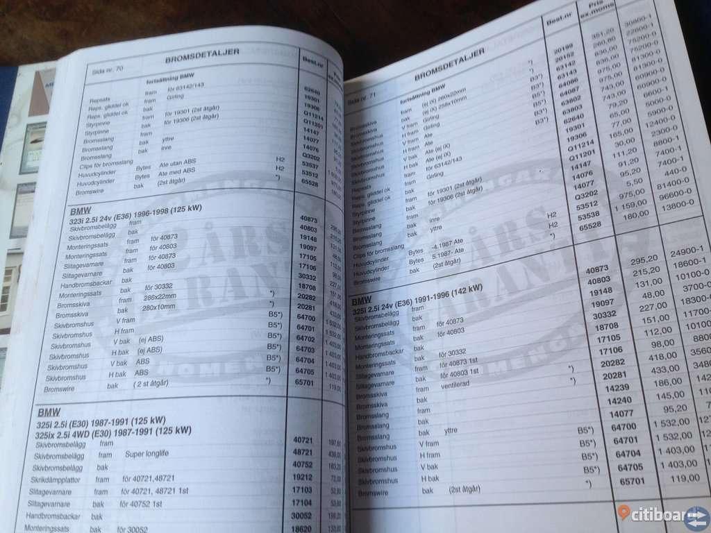 MEKONOMEN Katalog nr 2. Bromsdelar
