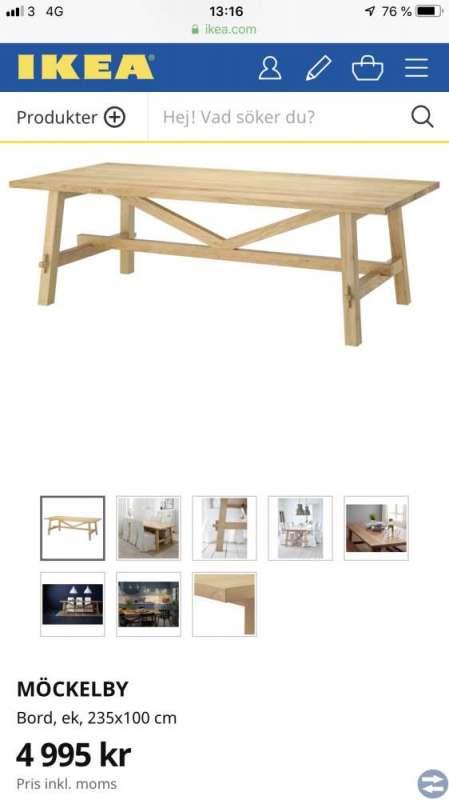 Matsalsmöbel, sparsamt använt, säljes pga flytt