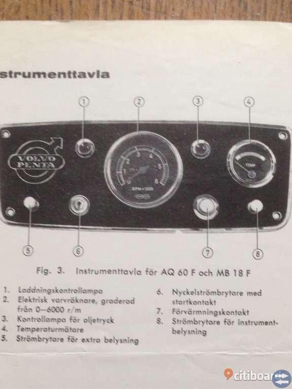 VOLVO PENTA  Körinstruktion Fotogenmotorer.