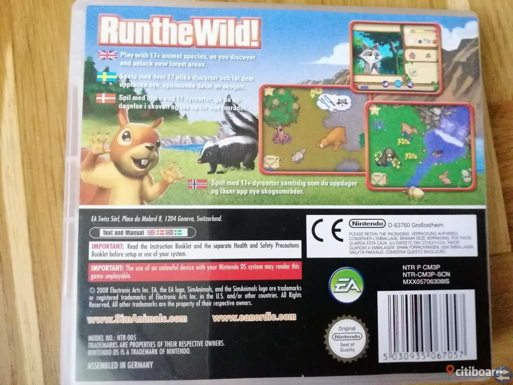 Sim Animals Komplett med Manual - Nintendo DS