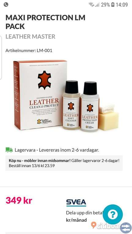 Vård av Leather.