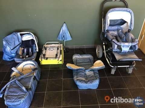 Emmaljunga Nitro barnvagn  och massor tillbehör paket