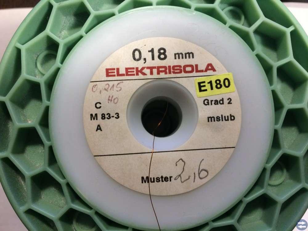 Lackisolerad Koppartråd -- Elektrisola -- 0,180 mm
