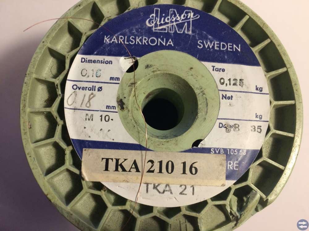 Lackisolerad koppartråd -- Ericsson -- 0,160 mm