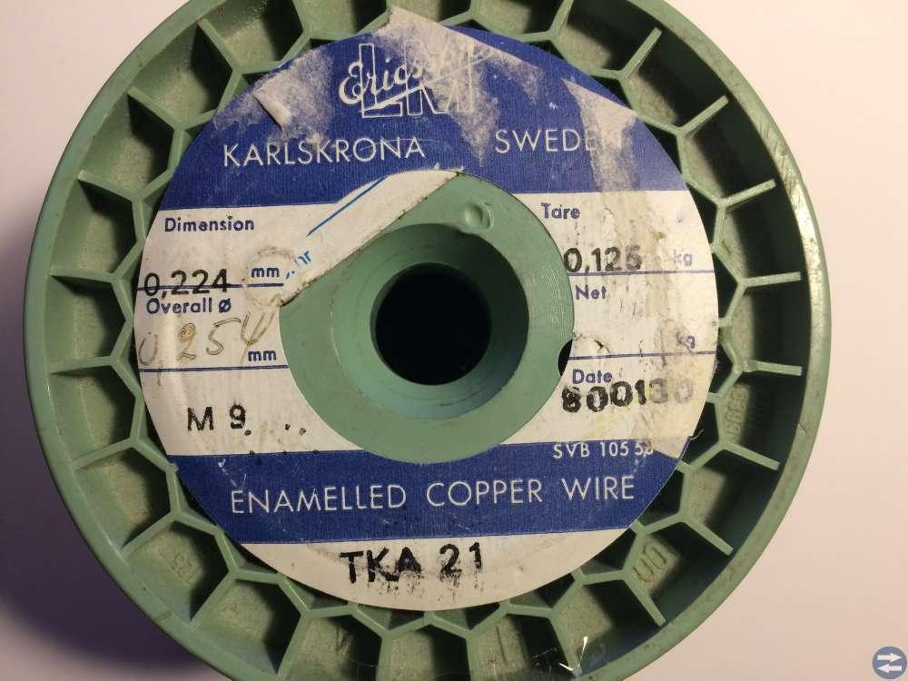 Lackisolerad koppartråd Ericsson -- 0,224 mm (1)