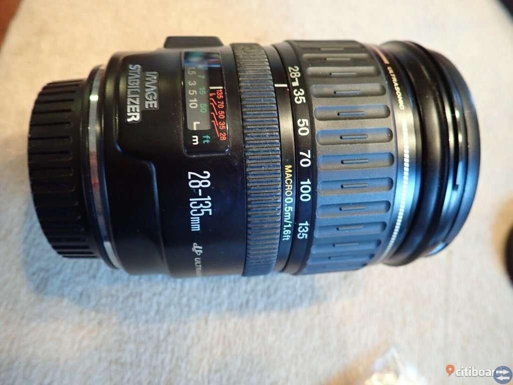 Canon EOS Rebel T7i / EOS 800D 24,2 MP w / 75-300mm, 28-135 och 50 w / många extrafunktioner