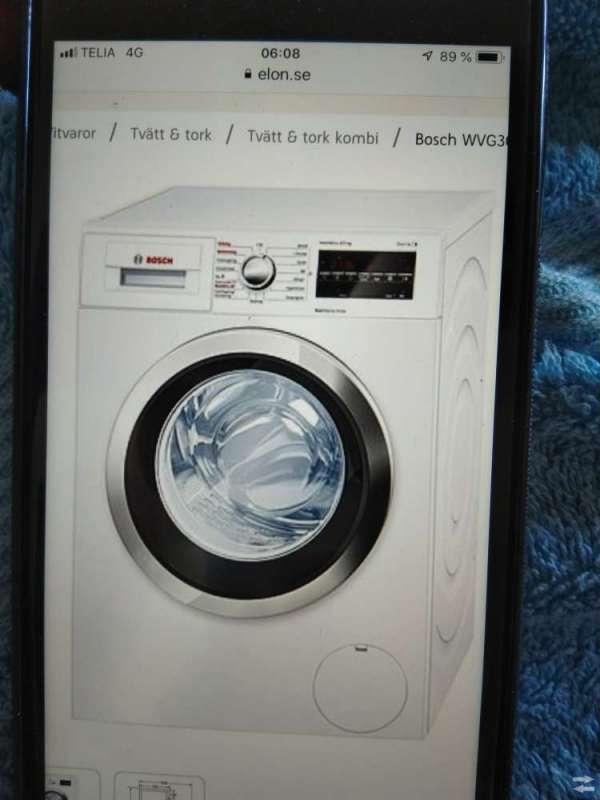Bosch tvättmaskin/torktumlare