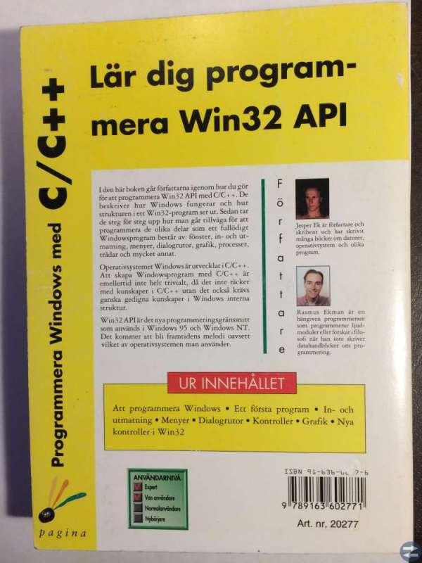 Programmera Windows med C - C plusplus
