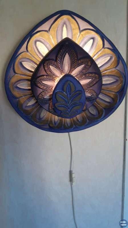Vägg lampa keramik med belysning
