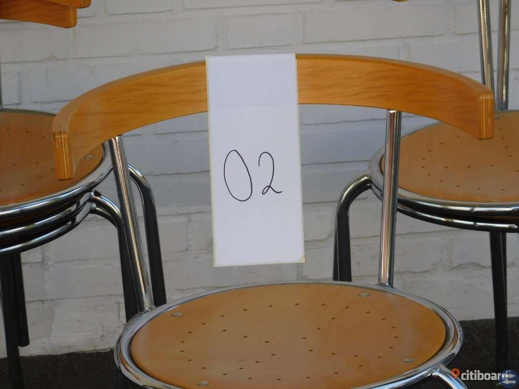 6 st stapelbara stolar