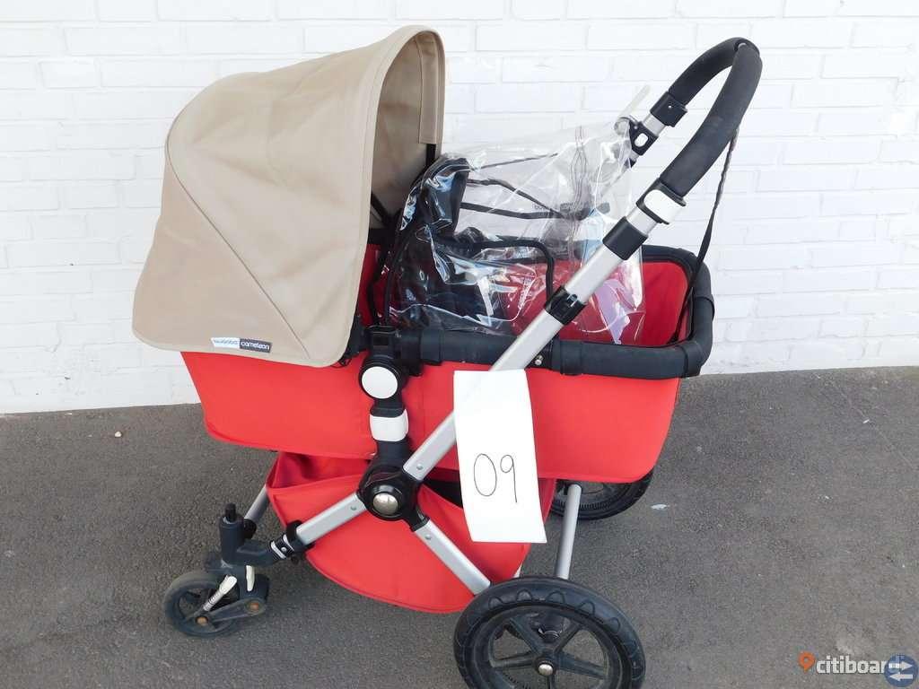 Bugaboo Cameleon barnvagn med passande regnskydd