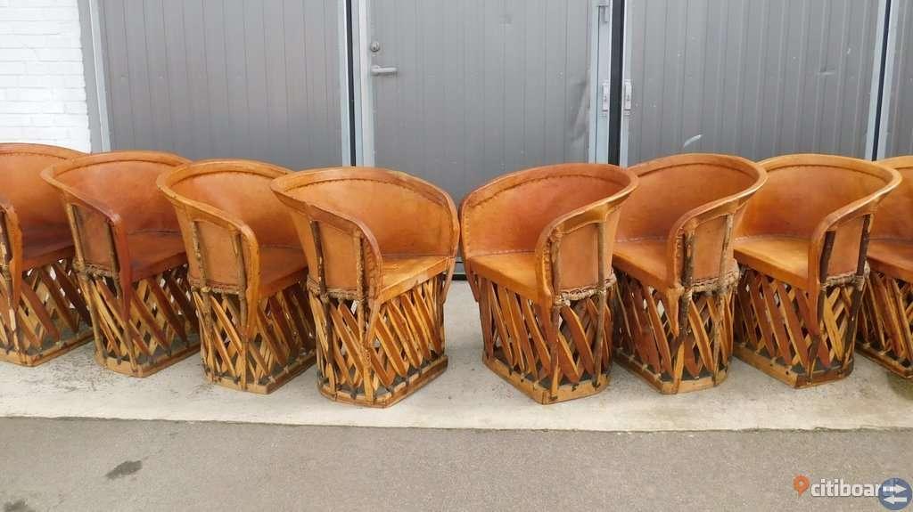 8 st läderstolar