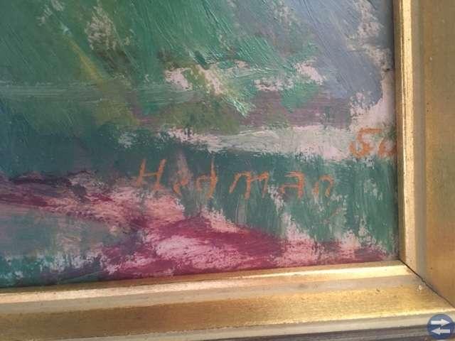 Oljemålning av Hedman