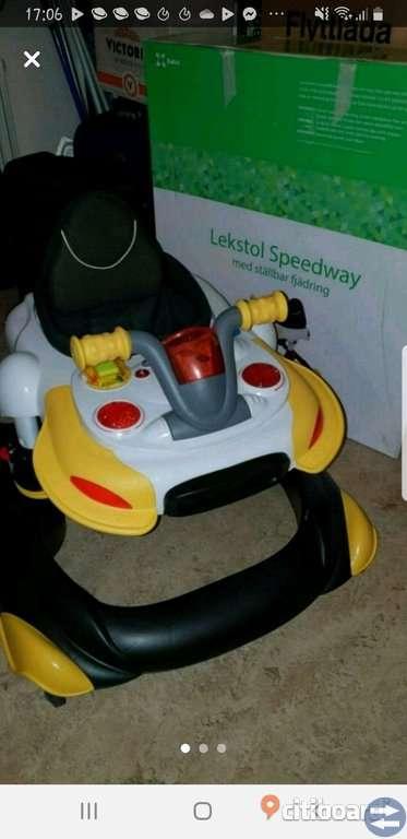 Barnstol Speedway m fjädring