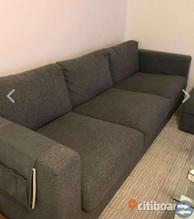 Kända Vimle IKEA soffa + fotpall - Möbler & Inredning i Malmö med stolar EV-92