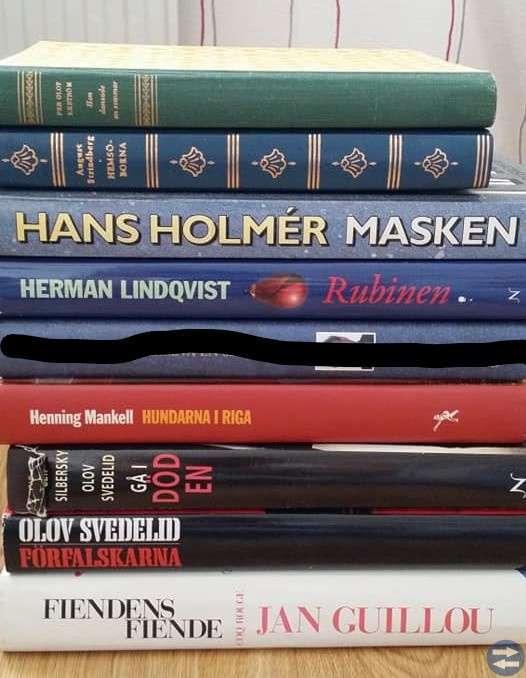 Olika svenska författare. Alla för 60:-