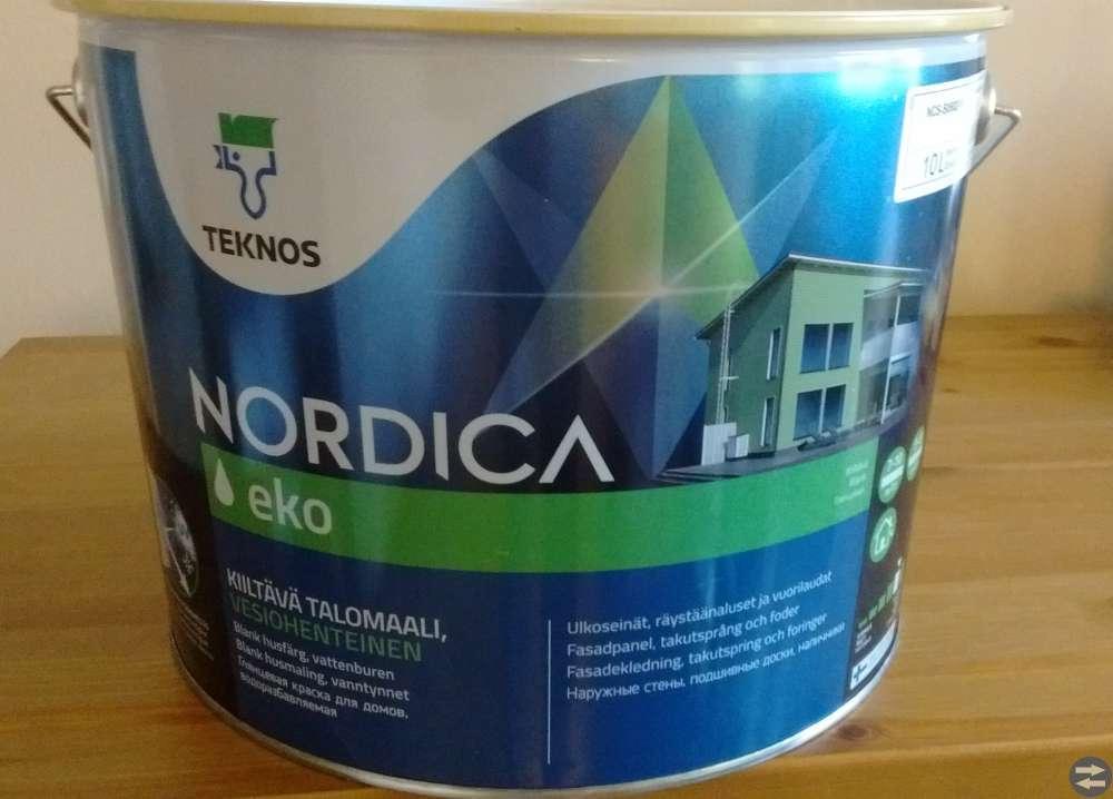 Husfärg NORDICA EKO husfärg 10 L VIT NCS-S0502-Y