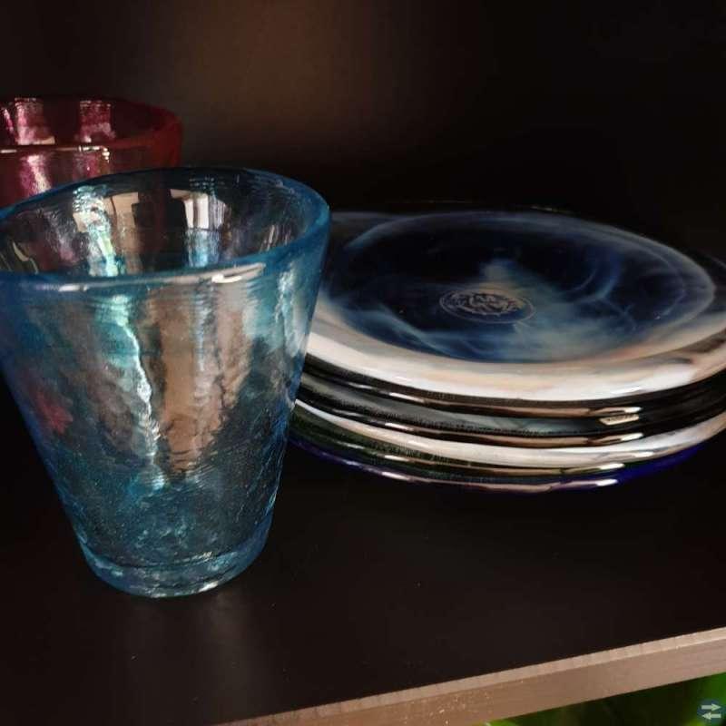 Glas och assietter från Mine