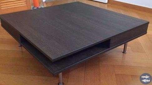 TOFTERYD Soffbord, högglans vit, 95x95 cm IKEA