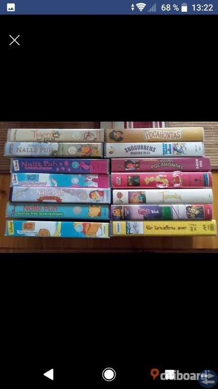 Barnfilmer på VHS.