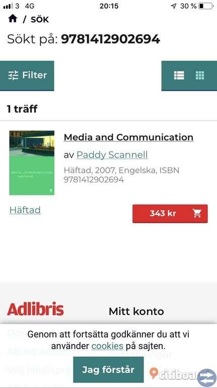 Kurslitteratur Medie- och kommunikationsvetenskap