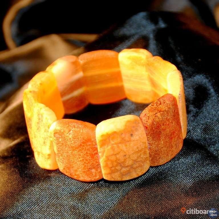 En unik Armband av äkta Bärnsten.