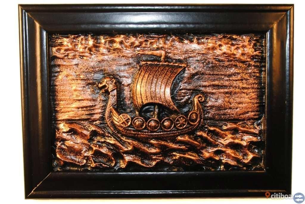 Vikingabåt Gips tavla
