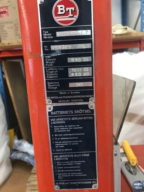 Stapellyftare batteri