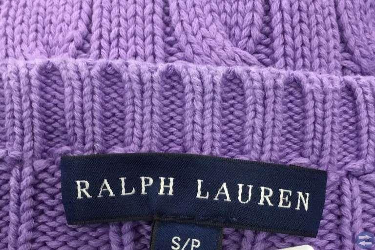 Ralph Lauren ljuslila kabelstickad tröja S/M