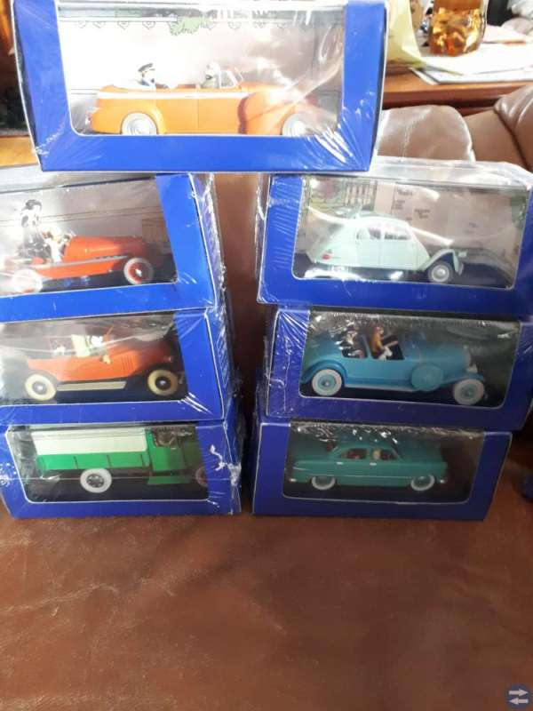 Tintinbilar olika modeller