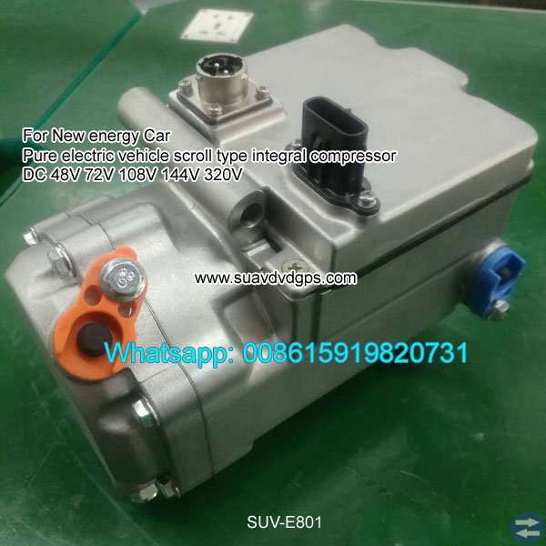 Pure Electric scroll compressor 48V 72V 108V 144V