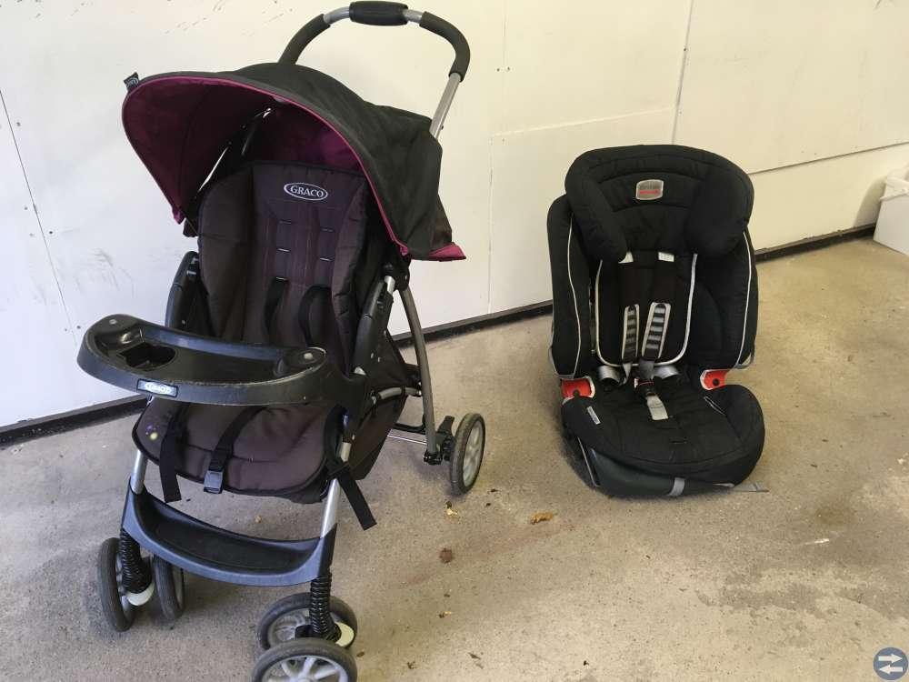 Sittvagn och bilstol