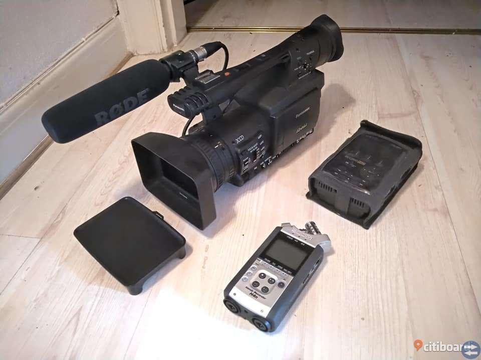 Professionell Panasonic P2HD videokamera