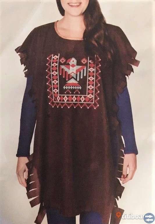 Indian peruk & kläder, Maskerad Halloween Utklädning NYA