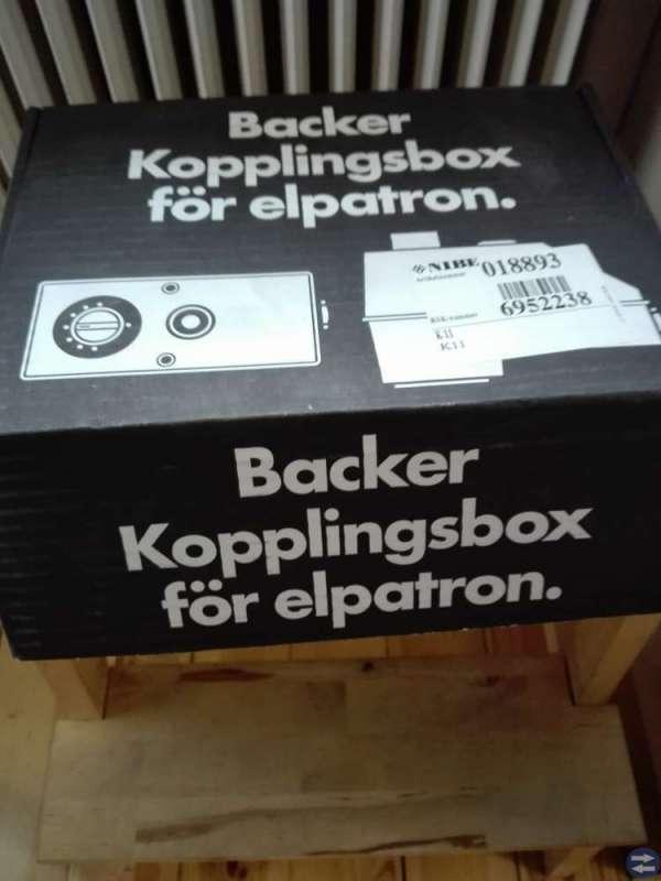 Kopplingsbox inkl. elpatron............