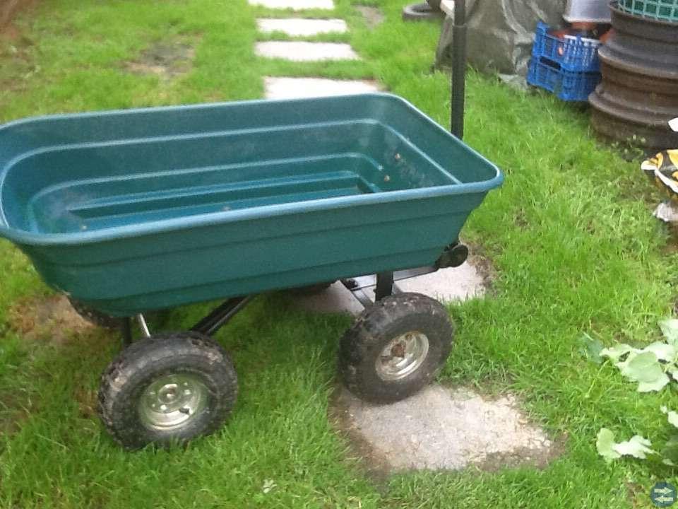 Trädgårdsvagn  åk klippare vagn