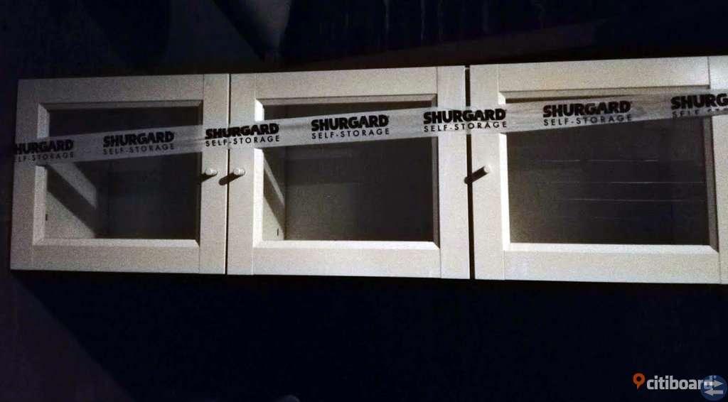 3 st överskåp med vitrindörrar till Billy /IKEA