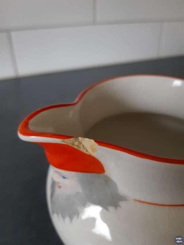 Grötskål och mjölkkanna