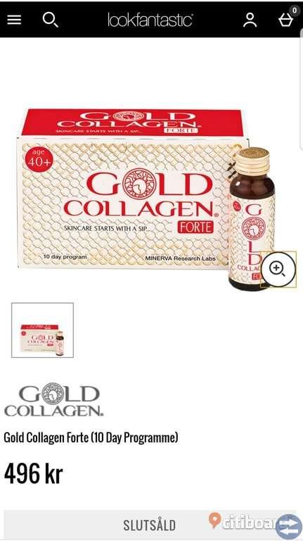 Gold collagen forte 40+ Nya i förpackning