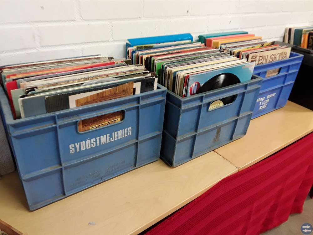 Vinylskivor inkl backar