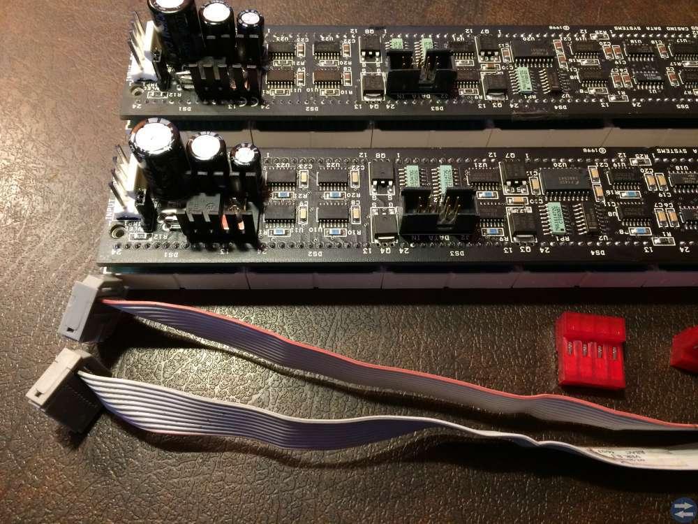 LED display 2 stycken 64x8 röd-grön